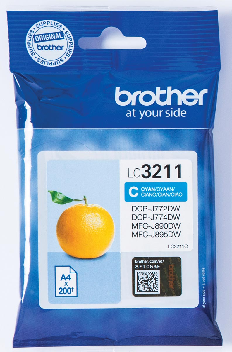 Brother inktcartridge cyaan, 400 pagina's - OEM: LC-3211C