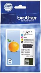 Brother inktcartridge 4 kleuren, 200 pagina's - OEM: LC-3211VAL