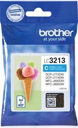 Brother inktcartridge cyaan, 400 pagina's - OEM: LC-3213C