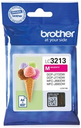Brother inktcartridge magenta, 400 pagina's - OEM: LC-3213M