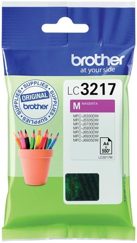 Brother inktcartridge magenta, 550 pagina's - OEM: LC-3217M