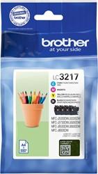 Brother inktcartridge 4 kleuren, 550 pagina's, LC-3217VAL