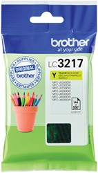 Brother inktcartridge geel, 550 pagina's - OEM: LC-3217Y