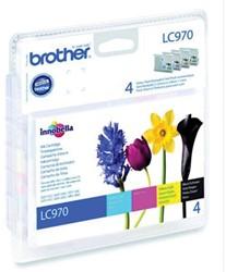 Brother inktcartridge 4 kleuren, 300 pagina's - OEM: LC-970VALBP