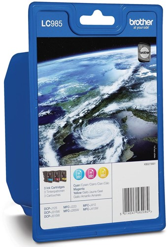 Brother inktcartridge 3 kleuren, 260 pagina