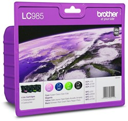 Brother inktcartridge 4 kleuren, 260 pagina's - OEM: LC-985VB
