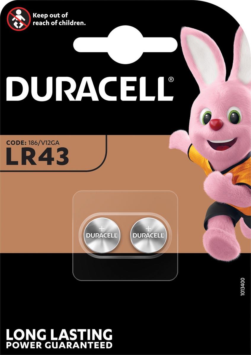 Duracell knoopcel Electronics LR43, blister van 2 stuks