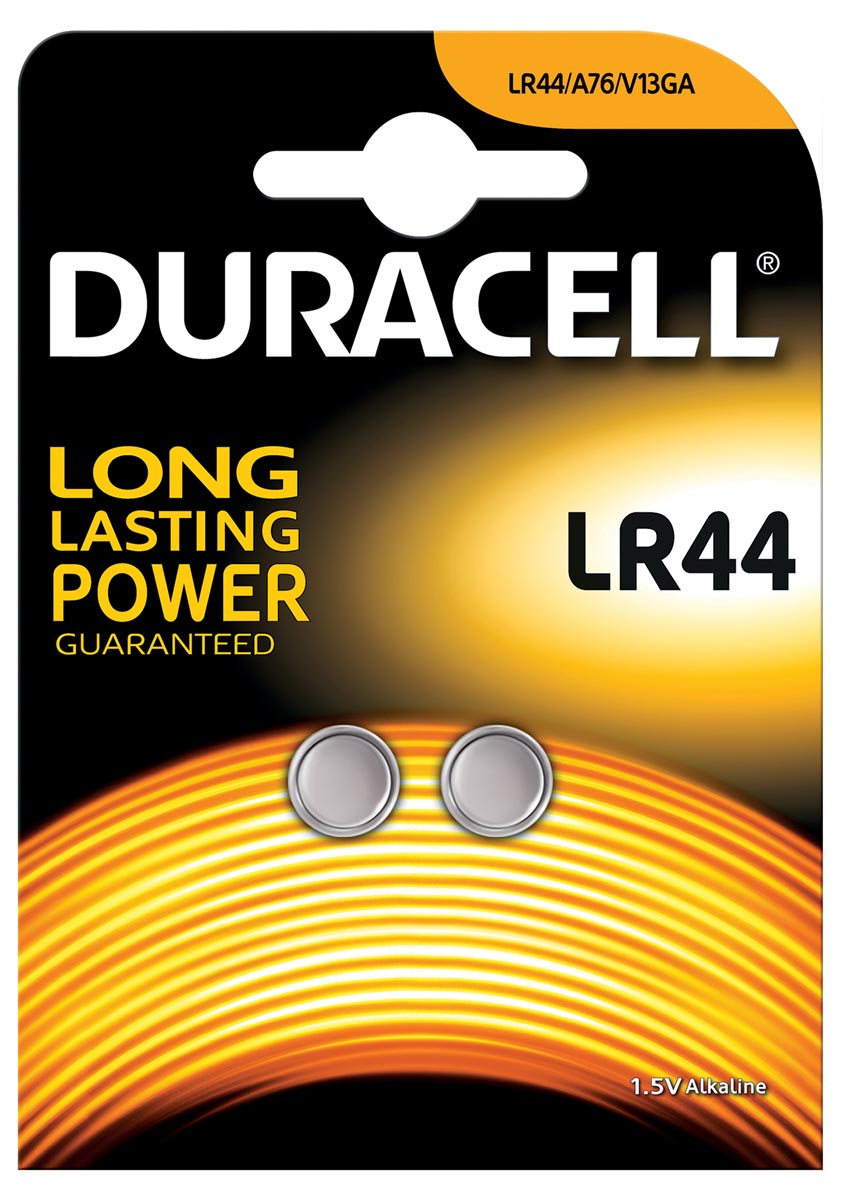 Batterij Duracell knoopcel LR44 alkaline