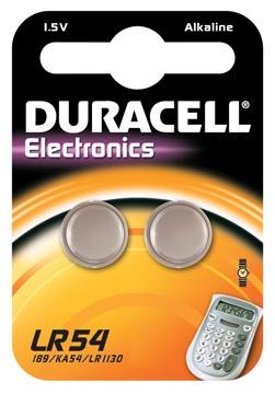 Batterij Duracell knoopcel LR54 alkaline