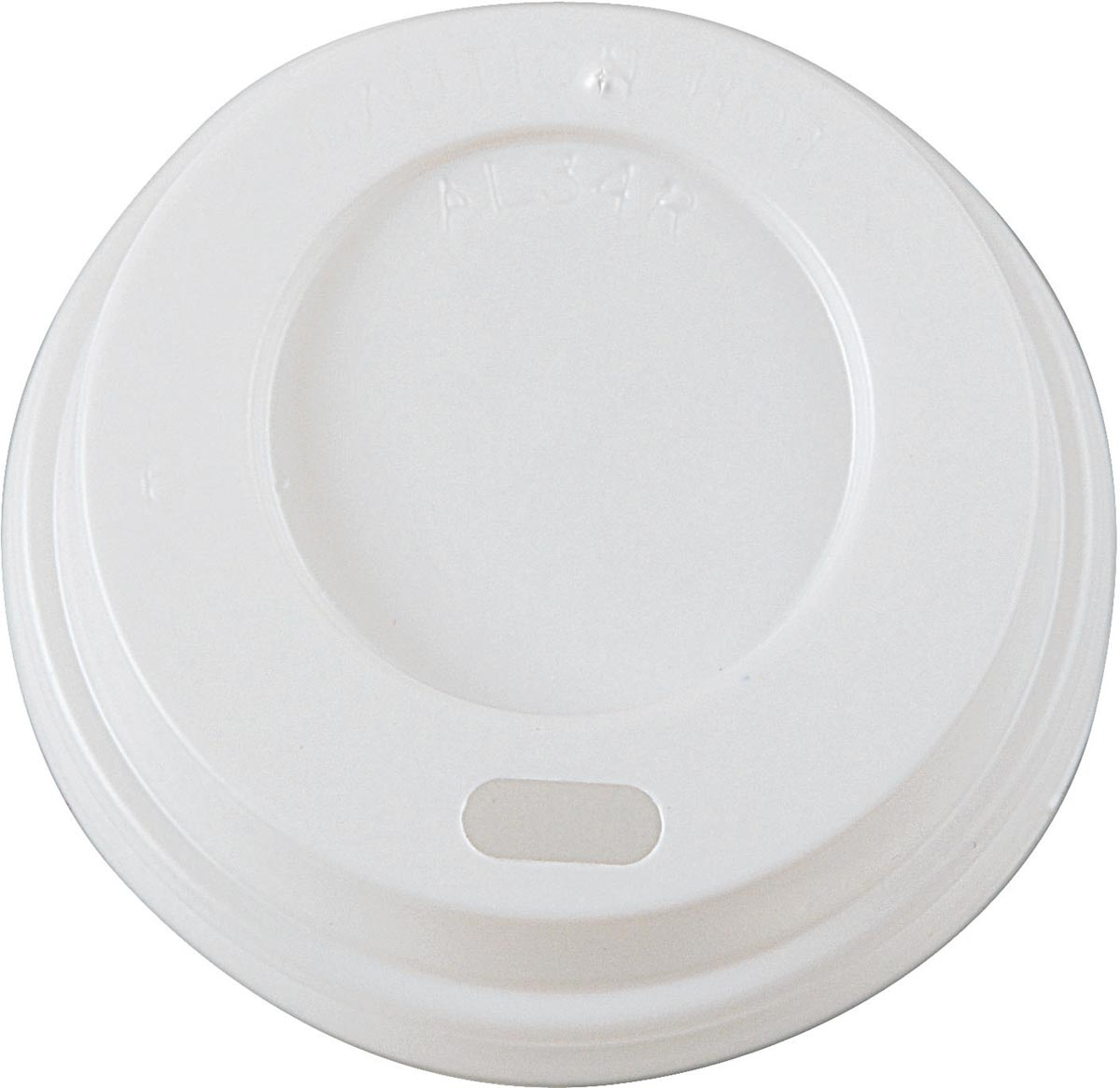 Deksel Coffee To Go, wit, diameter 62,5 mm, pak van 100 stuks