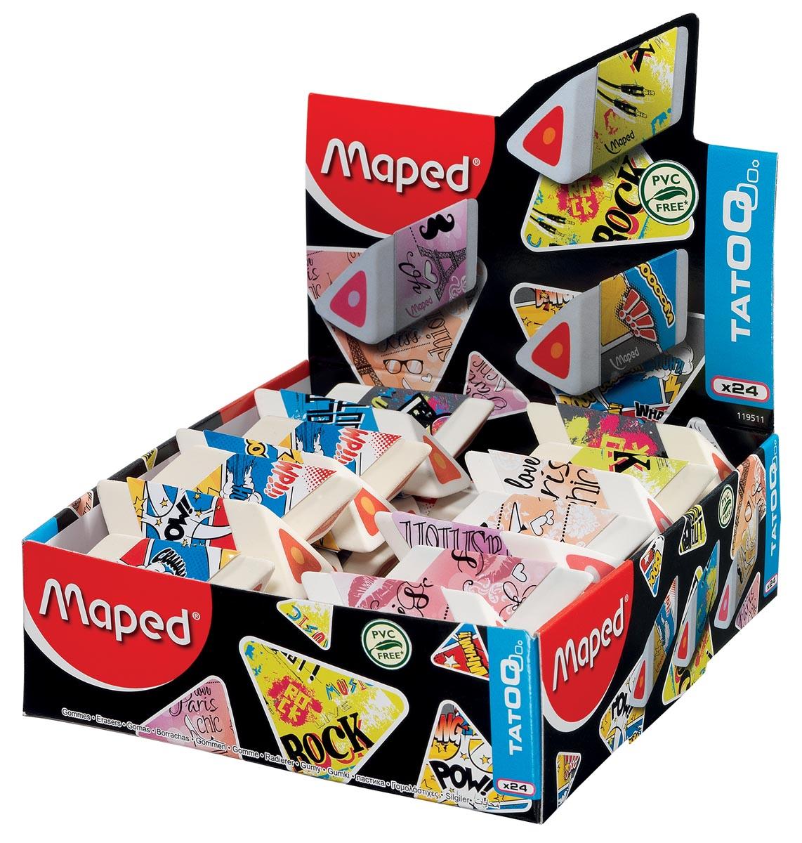 Maped gum Tatoo Pyramide, doos van 24 stuks
