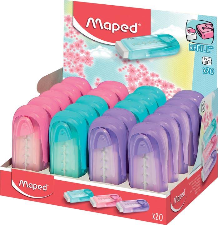 Maped gum Universal Collector, display van 20 stuks in geassorteerde pastel kleuren