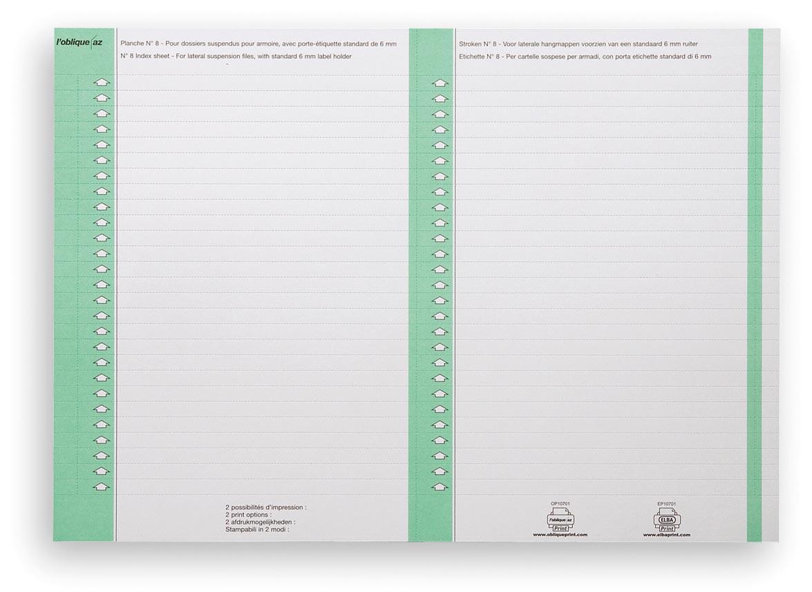 Elba ruiterstrook type 8, vel met 2x27 etiketten, pak van 270 etiketten, groen