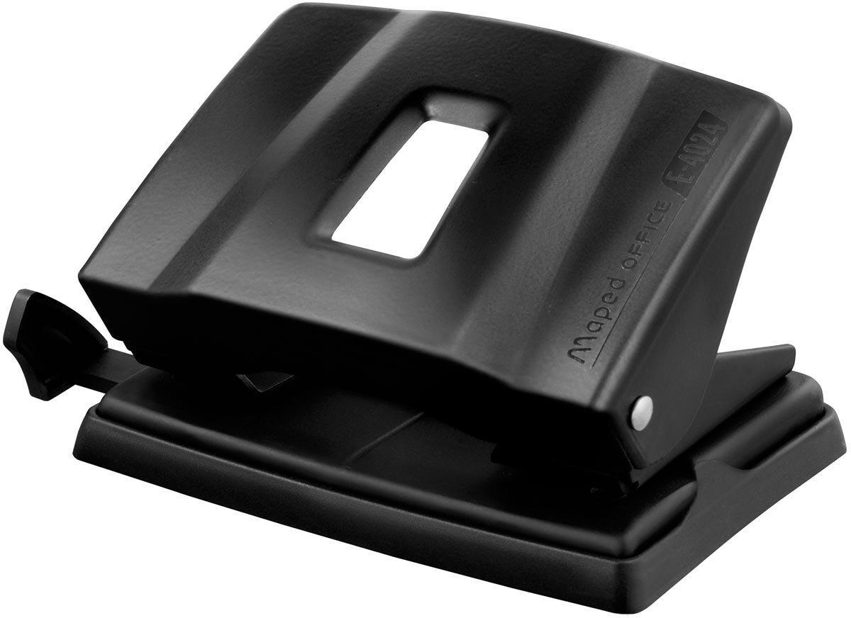 Maped perforator Essentials, 2 gaats, 20 tot 25 blad, zwart