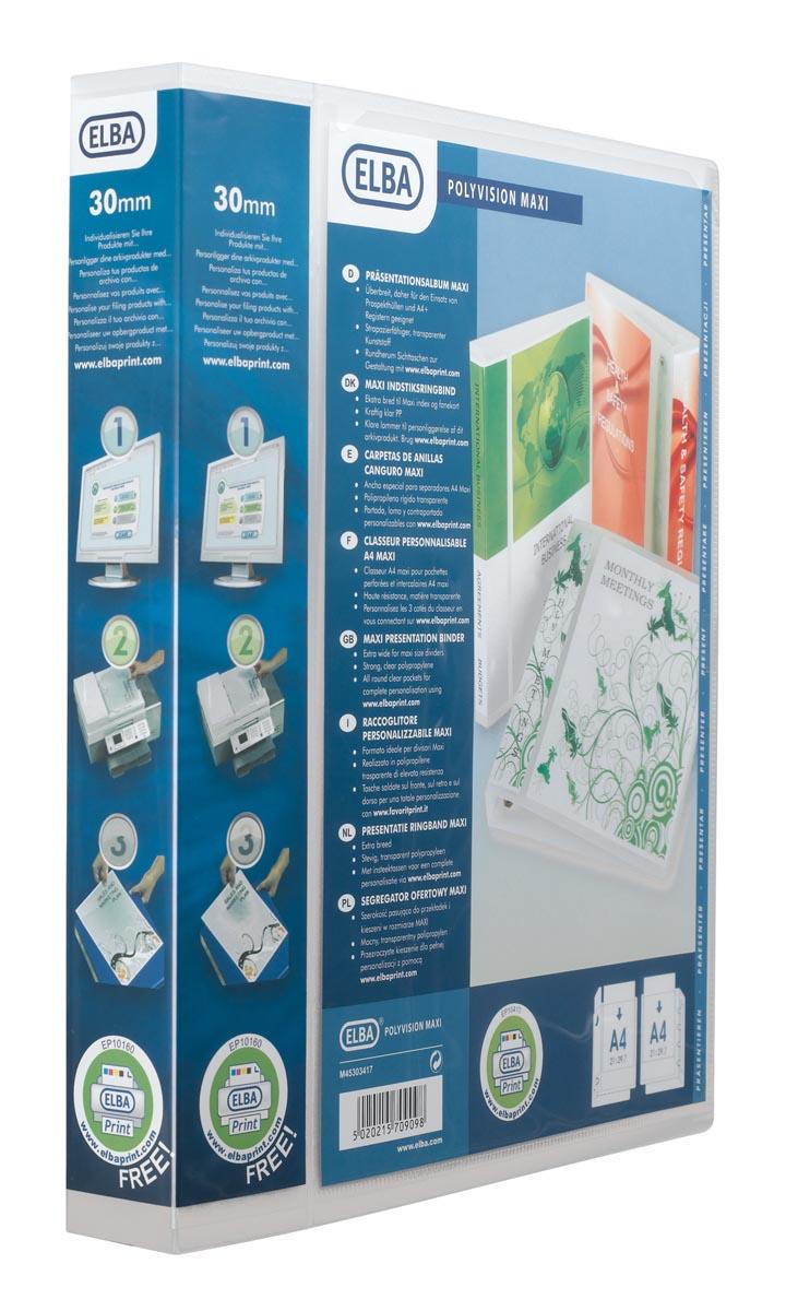 Elba personaliseerbare ringmap Polyvision Maxi, rug van 5 cm