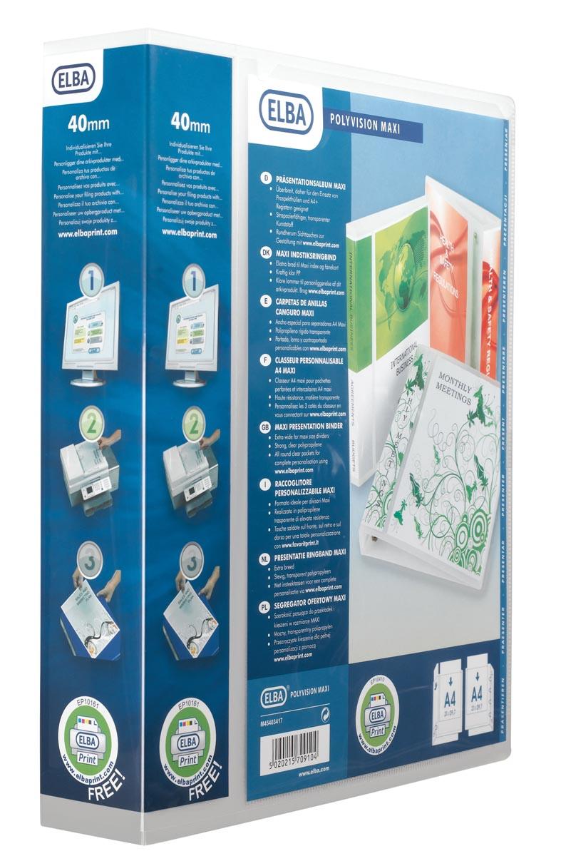Elba personaliseerbare ringmap Polyvision Maxi, rug van 6 cm