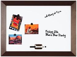 Bi-Office Kamashi magnetisch whiteboard met bruin kader