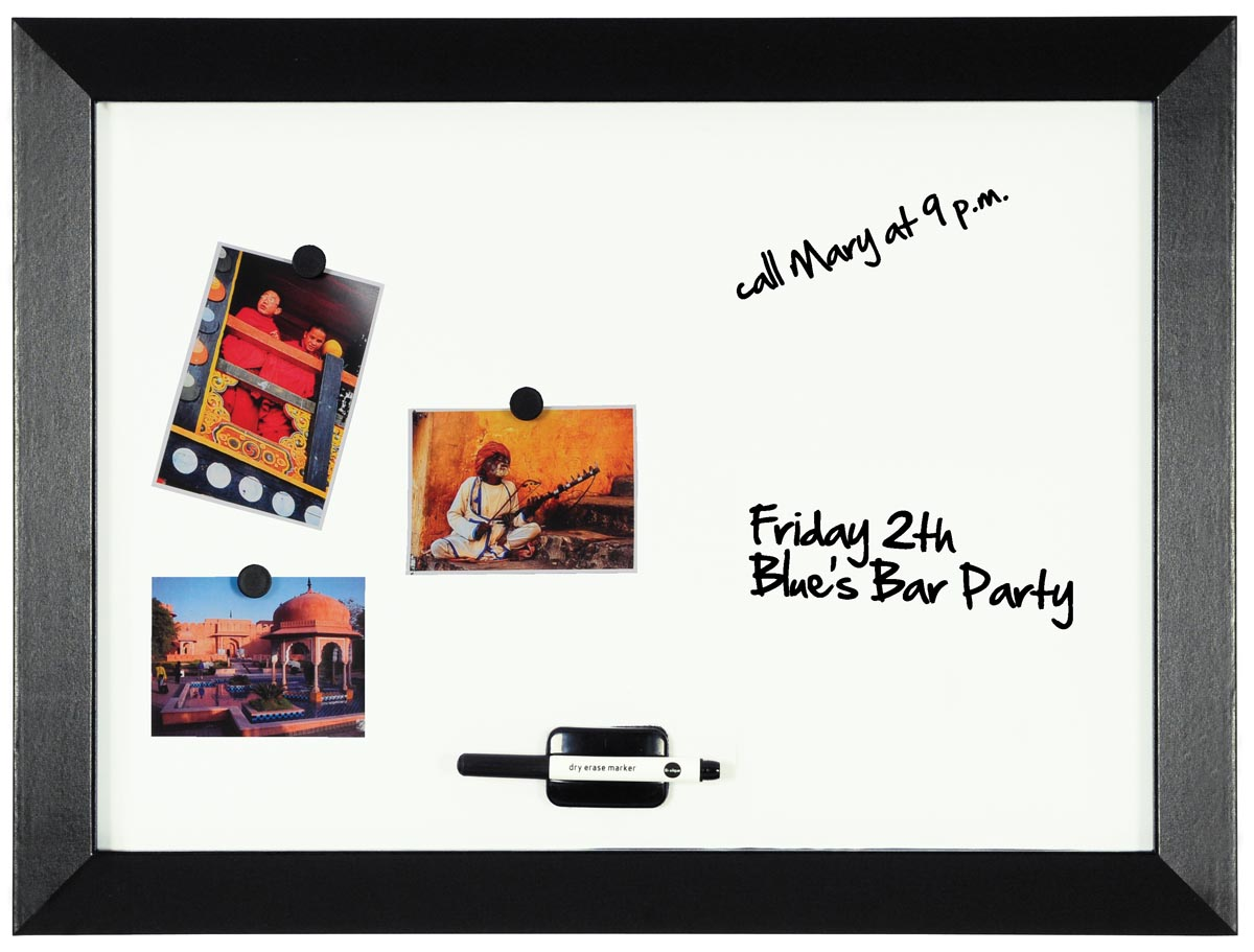 Afbeelding van Bi-Office Kamashi magnetisch whiteboard met zwart kader