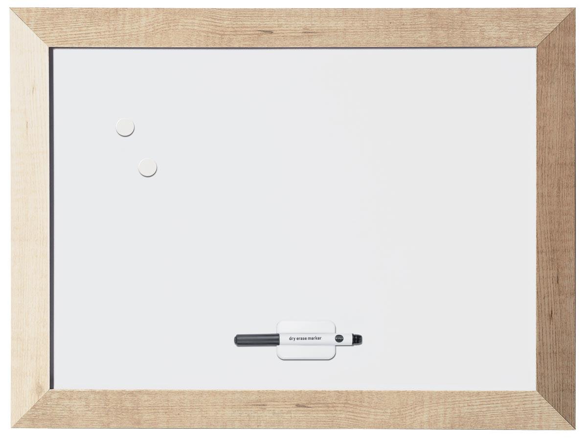 Afbeelding van Bi-Office Kamashi magnetisch whiteboard met naturel kader