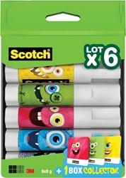 Scotch lijmstift permanent Monster, 8 g, doos van 6 stuks