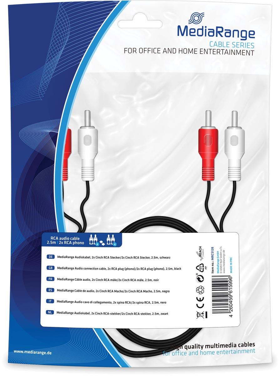 Audiokabel, 2x Cinch RCA-stekker/2x Cinch RCA-stekker