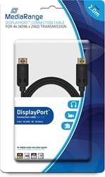 DisplayPort kabel, vergulde contacten, 10 Gbit/s Dataoverdrachtsnelheid, 2.0m