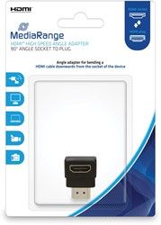 HDMI High Speed Hoek-adapter, 90 graden, Contrastekker/stekker