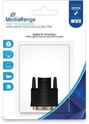 HDMI naar DVI Adapter, vergulde contacten, HDMI-contrastekker/DVI-D-stekker (18+1-polig)
