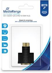 DVI naar HDMI High Speed Adapter, vergulde contacten, DVI-I-contrastekker (24+5-polig)/HDMI-stekker