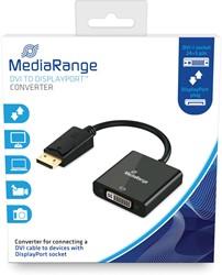 DVI naar DisplayPort Converter, vergulde contacten, DVI-I-contrastekker (24+5-polig)/DP-stekker, 15cm