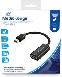 HDMI naar Mini DisplayPort Converter, vergulde contacten, HDMI-contrastekker/Mini DP-stekker, 15cm