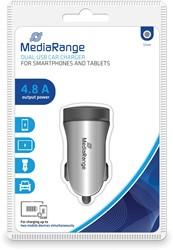 Dubbele USB-autolader met 4.8A Laadstroom max