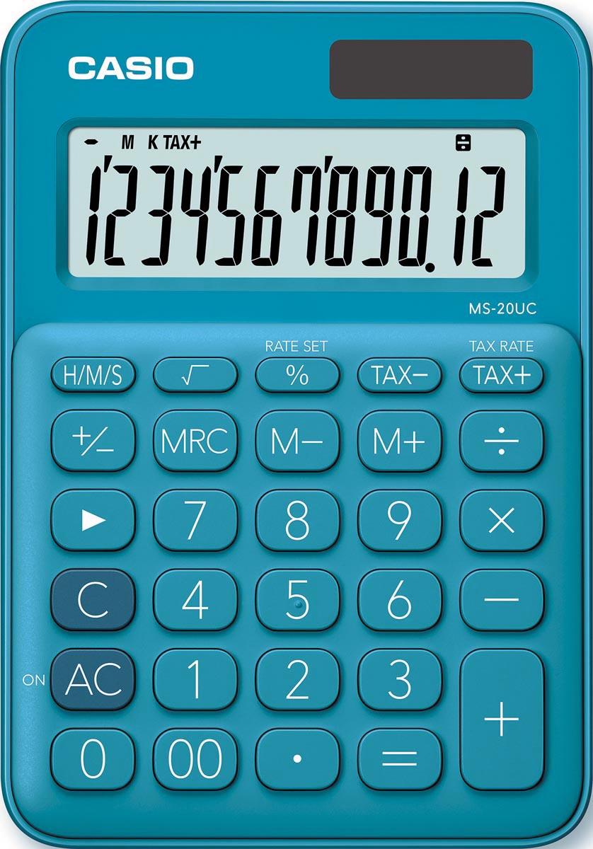 Casio bureaurekenmachine MS-20UC, blauw
