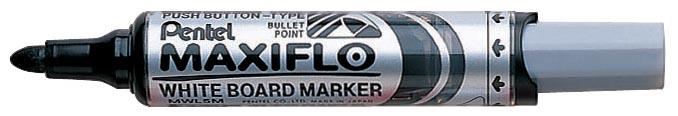 Pentel whiteboardmarker Maxiflo zwart