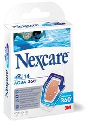 3M pleister Nexcare Aqua 360° 3 formaten, blister van 14 stuks