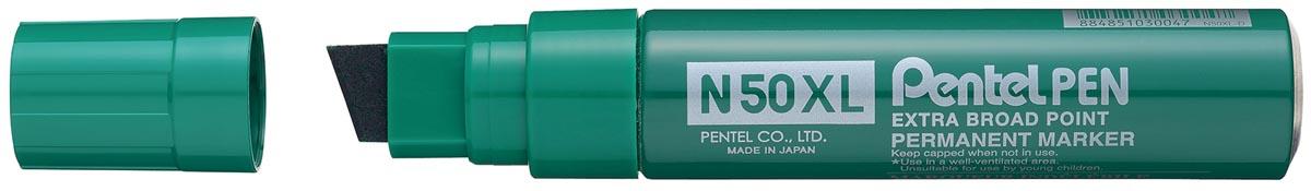 Pentel permanent marker Pen N50, brede punt, groen