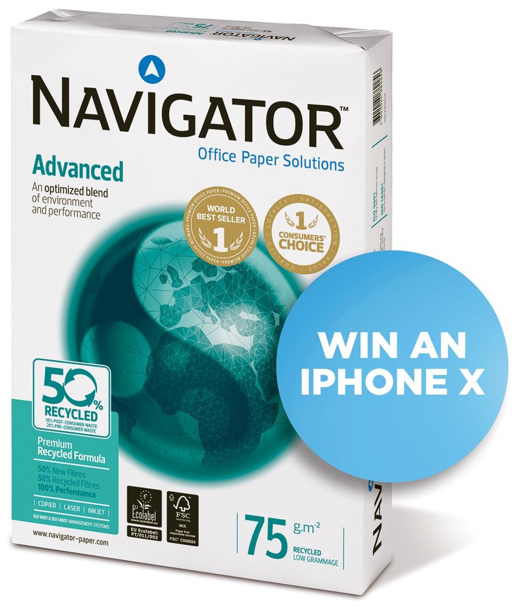 Navigator Advanced kopieerpapier ft A4, 75 g, pak van 500 vel