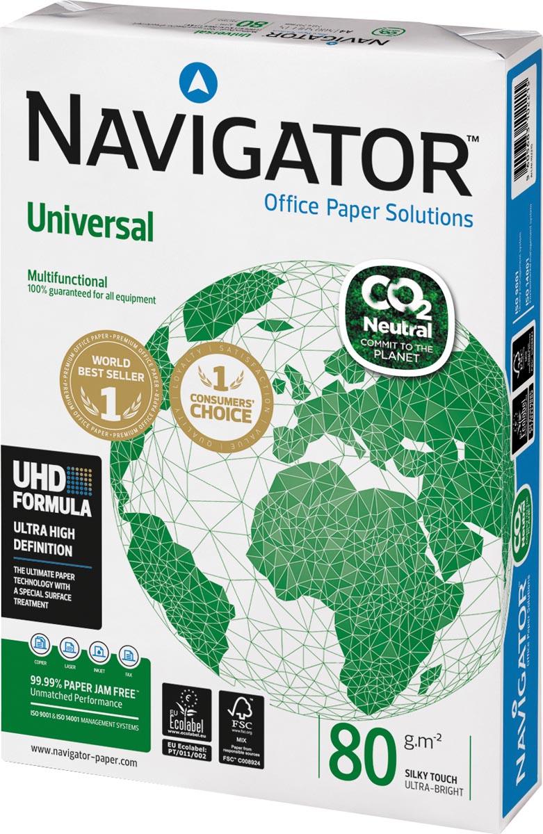 Navigator Universal CO2-neutraal papier, ft A4, 80 g, pak van 500 vel