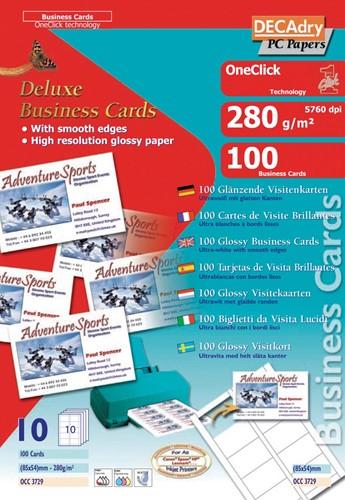 Decadry Cartes De Visite OneClick Brillant