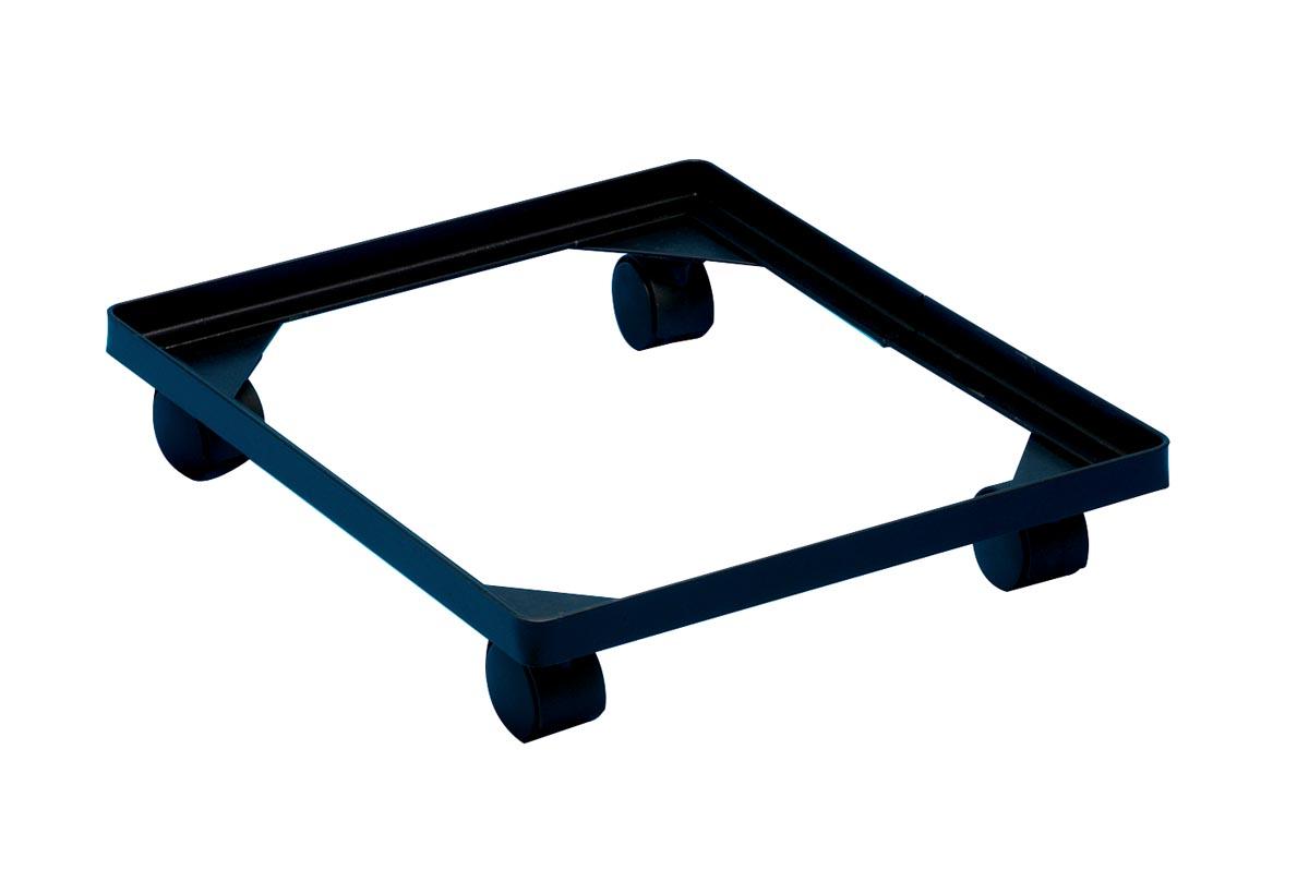 Really Useful Box accessoire onderstel met wieltjes (diameter: 4,5 mm), in zwarte PVC