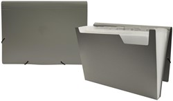 Beautone voorordner, ft A4, 12 vakken, grijs