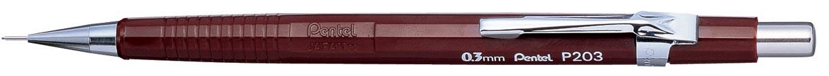 Pentel vulpotlood voor potloodstiften: 0,3 mm, bruine houder