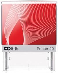 Colop stempel met voucher systeem Printer Printer 20, max. 4 regels, voor België, ft 38 x 14 mm