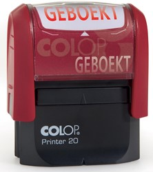 Colop formulestempel Printer tekst: GEBOEKT