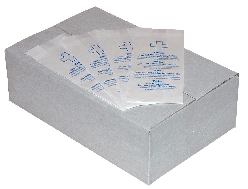 Europroducts hygiënezakjes, wit, pak van 1000 stuks