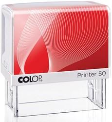 Colop stempel met voucher systeem Printer Printer 50, max. 7 regels, voor België, ft 69 x 30 mm