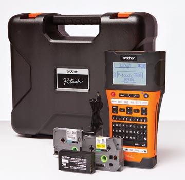 Brother beletteringssysteem PT-E550, inclusief koffer met 4 tapes, adapter en batterij