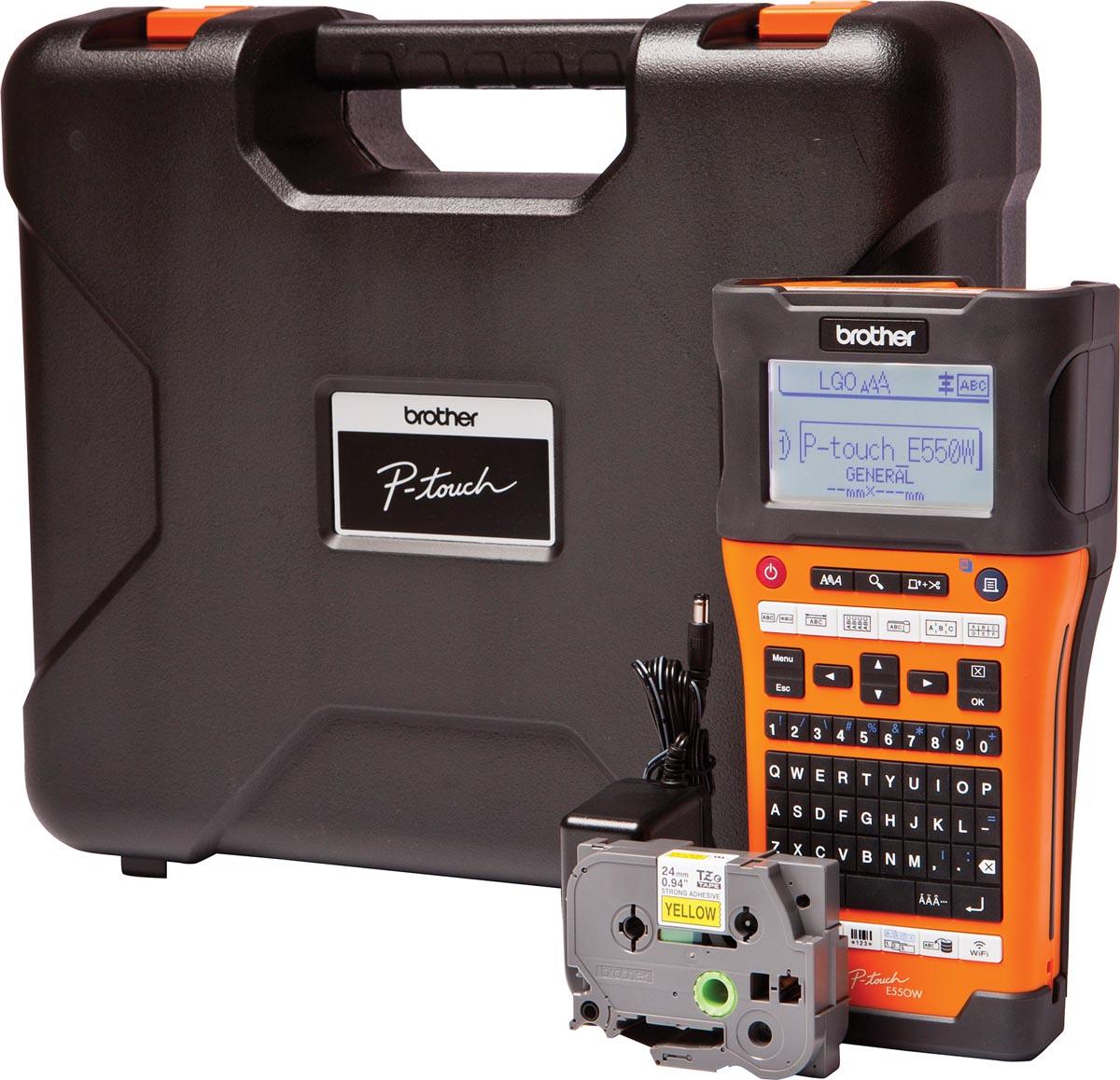 Brother beletteringssysteem PT-E550 met draagkoffer, 2 tapes, adapter en batterij-2