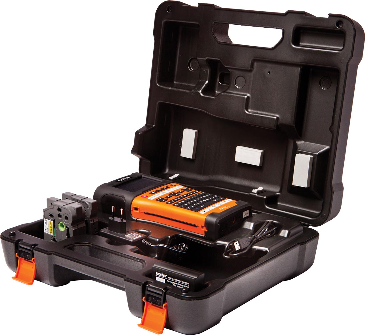 Brother beletteringssysteem PT-E550 met draagkoffer, 2 tapes, adapter en batterij-3