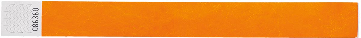 Orakel polsbandjes Tyvek, oranje, pak van 100 stuks